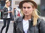 Off-duty beauty: Diane Kruger shows off her flawless skin and stunning good looks as she goes make-up free for lunch date