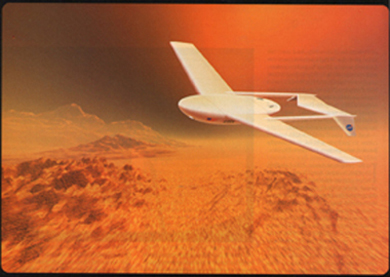 NASA's Langley Research Center Artist's concept of the Mars Airplane