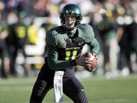 Quarterback Justin Roper completed seven of 11 passes and led the Ducks' to a pair of first-quarter touchdowns before exiting with a slight concussion.