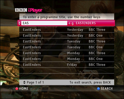 tv iplayer search