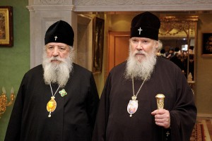 Russian Orthodox patriarch Alexy II, right, was an influential religious Christian voice against anti-Semitism in Russia.