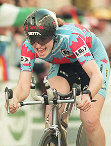 Hughes won two bronze medals as a cyclist at the 1996 Olympic Games.