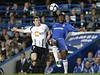 Chelsea's Mikel, right, goes for the ball with Bolton Wanderers' Matthew Taylor during their English Premiership soccer match at Chelsea's Stamford Bridge stadium in London, Tuesday, April, 13,  2010. 20 7864 9121 or EMAIL info@football-dataco.com  FOR DETAILS.