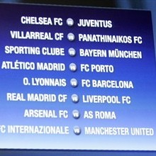 The draw results for the UEFA Champions League first knockout round
