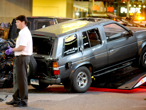 The SUV involved in Faisal Shahzad's thwarted Times Square car bombing.