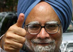 KING CONG HERE TO STAY: Prime Minister Manmohan Singh's Government won the trust vote in Lok Sabha.