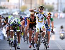 Leigh Howard (HTC - Columbia) wins stage four in Oman.