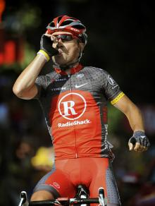 Sergio Paulinho (RadioShack) is a happy man after winning his first Tour stage.