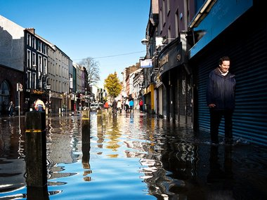 Flooding in Cork City (Credit: David Hegarty)