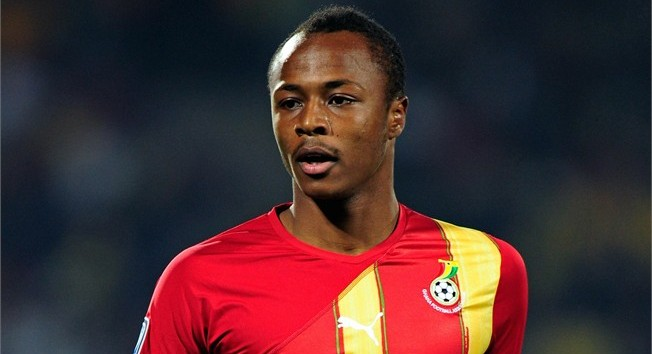 Andre Ayew of Ghana in action