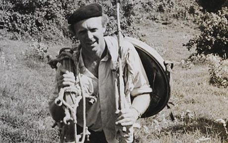 Anthony Smith on his 1962 Sunday Telegraph sponsored balloon crossing of East Africa.  Picture date 21/08/2010