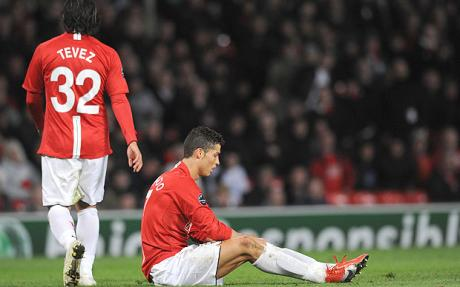 Carlos Tevez and Cristiano Ronaldo - Porto snatch draw at Manchester United
