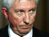 Bloc Quebecois Leader Gilles Duceppe speaks to media in the foyer of the House of Commons on Parliament Hill in Ottawa on Thursday, Dec. 4, 2008. (Sean Kilpatrick / THE CANADIAN PRESS)
