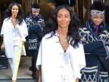 All-smiles: Willow Smith and Jada Pinkett leave their NYC hotel