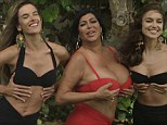 Busting out: Big Ang, Irina Shayk and Alessandra Ambrosio show their cleavage for CR Fashion Book in Bruce Weber's Miami House Party, photographed by Bruce Weber