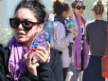 Down time: Vanessa Hudgens spent her day at the gym after grueling promotional tour