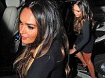 Letting her hair down ahead of the big day: Newly engaged Tamara Ecclestone parties in mini dress after browsing wedding gowns