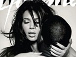Shameless: Kim Kardashian and Kanye West pose on the cover of the spring issue of French magazine L'Officiel Hommes