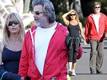 They can't get enough of each other! Goldie Hawn, 67, and her partner Kurt Russell, 61, enjoy a romantic stroll in the Pacific Palisades