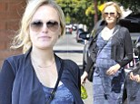She's an earth mother-to-be! Pregnant Malin Akerman dresses her baby bump in tie-dye maxi