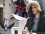 They're the first glimpses of British-raised actor Andrew Garfield, 29, really getting his teeth into the role of the ordinary man behind the webbed crusader, spectacle-wearing Peter Parker, for the second film.