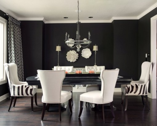 Black Dining Room Idea For Stylish Modern Home - Nuhomedesign