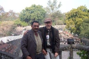 Dharm Pal, the Rock Garden engineer, and Tony Rajer at Rock Garden.