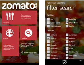 Zomato Top 10 Most Essential apps for a Windows Smartphone