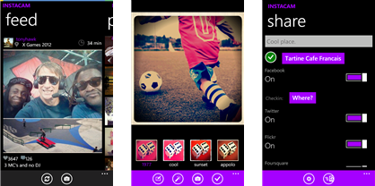 instacam Top 10 Most Essential apps for a Windows Smartphone