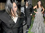 That's better! Mila Kunis swaps her heavy McQueen gown for comfy trainers and leggings after Oz London premiere