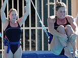 Hitting a bomb note! Nicole Eggert dices with disaster during Splash rehearsals