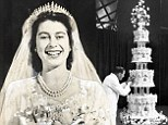 Cake, ma'am? Queen Elizabeth's wedding cake up for auction alongside signed Princess Diana engagement thank-you letter