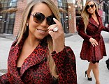 Mariah Carey arrives at the studios for Live with Kelly and Michael in New York on Friday and discusses how her twins are growing up with a love of fashion and movies
