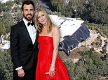 Getting there! Jennifer Aniston's renovations of $21m mansion continue at furious pace ahead of wedding to Justin Theroux