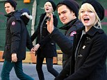 Lovebirds: Andrew Garfield and Emma Stone walked hand-in-hand in the West Village, on Thursday