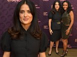 Salma Hayek Pinault, PPR Corporate Foundation for Womens Dignity and Rights and actress Jada Pinkett Smith attend the launch of Chime for Change, founded by Gucci, at TED held at The Westin on February 28, 2013 in Long Beach