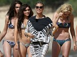 Not showing a thing: Heidi Klum decided not to have her body on display as she filmed for Germany's Next Top Model n Hawaii