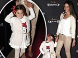 Supermodel Alessandra Ambrosio and daughter Anja at the opening night for Cavalia's 'Odysseo' in Burbank, California.