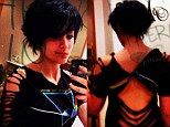 Punky: Paris Jackson showed a picture of herself in a backless cut out top and some back body art in a picture on Twitter earlier this week