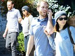 Barefaced beauty! Rooney Mara is dressed down as she enjoys a sunny afternoon with rumoured fiance Charlie McDowell