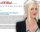 'This mom's not going to take it!' Furious Tori Spelling slams 'hateful' magazine divorce report as 'lies and fabrication'