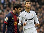Head-to-head: Ronaldo relished his chance to go up against Barcelona rival Lionel Messi at the Bernabeu