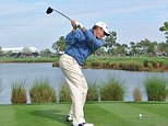 In contention: Lee Westwood lies two shots off the lead going into the final day of the Honda Classic