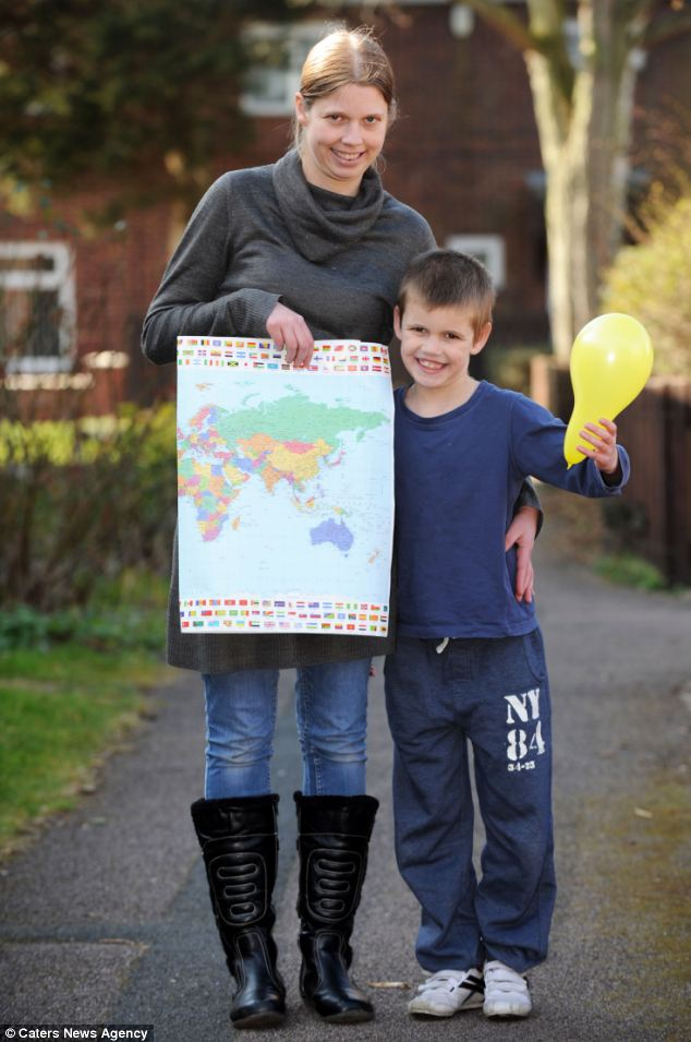 Amazed: Joshua's mum Coleen said she was 'gobsmacked when she found out how far the balloon had travelled