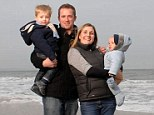 Balancing act: Andy and Gemma Bryant, with James, left, and Harry, switched to a zero-rate credit deal