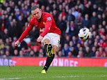 Selection dilemma: Despite scoring a superb goal against Norwich at the weekend (above), there are no guarantees that Sir Alex Ferguson (below) will pick Wayne Rooney against Real Madrid tomorrow night