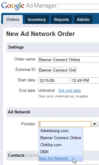 google ad manager cannot add new network ad order 1 Cannot Create New Ad Network Order in Google Ad Manager