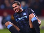 Injury curse: Jack Rodwell was marking his 11th appearance for Manchester City since his summer arrival from Everton