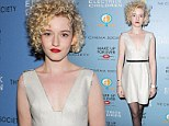 Her time to shine! Rising star Julia Garner turns heads in a plunging silver dress at screening of her new film