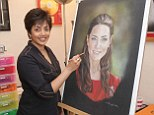 Praised: Norren Denzil has been praised for her 'warm' portrait of the Duchess of Cambridge - after the official one was slammed by critics